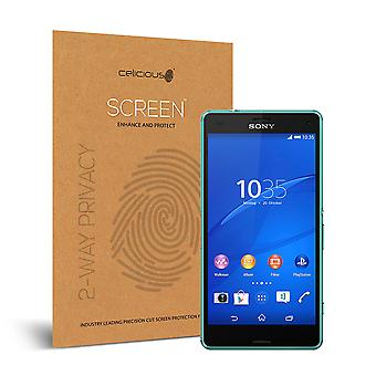 Celicious Privacy 2-Wege-Anti-Spy-Filter Screen Protector Film kompatibel mit Sony Xperia Z3 Compact