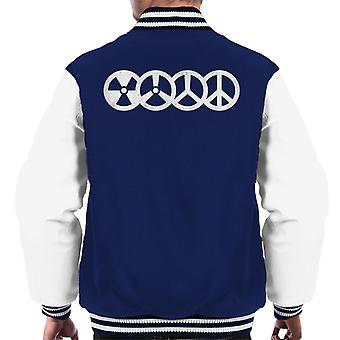 War And Peace Symbols Men's Varsity Jacket