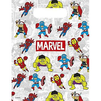 Avengers team power super hero party bags gift bags 6 piece children birthday theme party