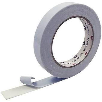 Double sided adhesive tape White (L x W) 5 m x 19 mm TOOLCRAFT