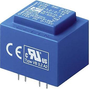 PCB mount transformer 2 x 115 V 2 x 6 V AC 2.30 VA 191 mA