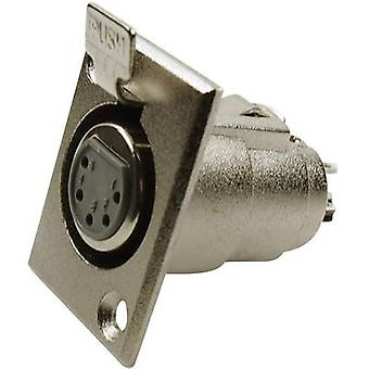 Cliff FC6170 XLR connector Sleeve socket, straight pins Number of pins: 5 Silver 1 pc(s)