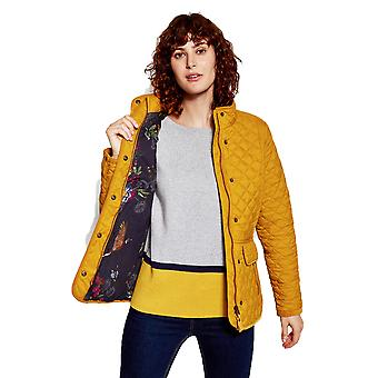 Joules Womens Newdale Quilted Zip Fastening Extra Warm Coat