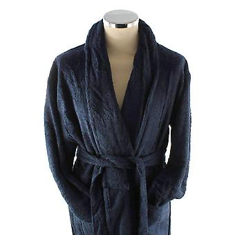 Bown of London Terry Egyptian Cotton Dressing Gown - Navy