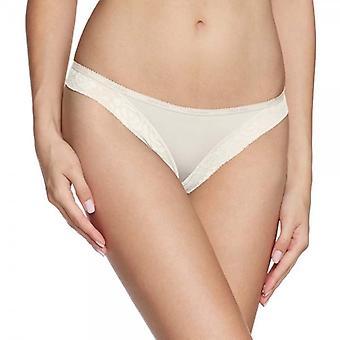 Calvin Klein Women Modern Signature Thong, Ivory, Large