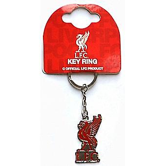 Liverpool Fc Crest Metal / Enamel Keyring