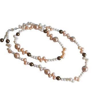 Zuchtperlenkette champagnerfarben Länge 60 cm EMILIA-ANN Perlenkette