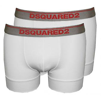 DSquared2 2-Pack Low-Rise Boxer Trunks In Modal Stretch, White