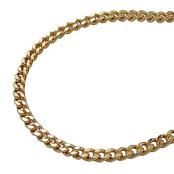 Curb chain 55cm gold plated