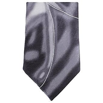 Knightsbridge Neckwear Water Swirl Pattern Tie - Grey/White
