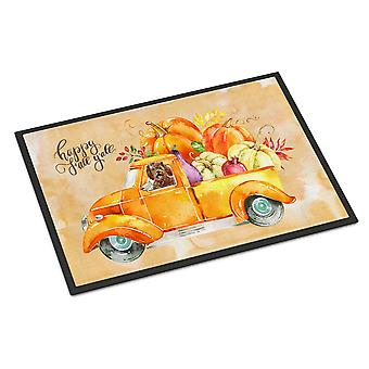 Fall Harvest Labradoodle Indoor or Outdoor Mat 18x27