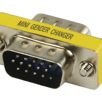 Valueline Gchd-mm15p Metalen Mini Vga Adapter Hd15p Mannelijk - Hd15p Mannelijk