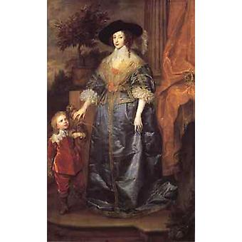 Portrait of queen henrietta maria with sir jeffrey, Anthony Van Dyck
