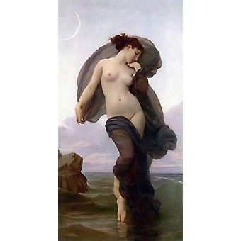 El estado de ánimo de la noche, Adolphe William Bouguereau, 80x40cm