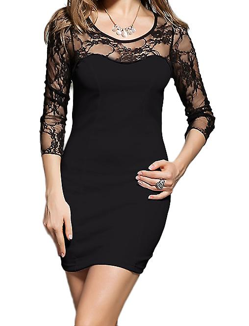 Waooh - Fashion - Slinky dress with neckline lace
