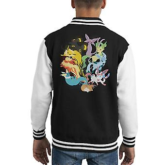 Pokemon Eeveelutions Kid's Varsity Jacket