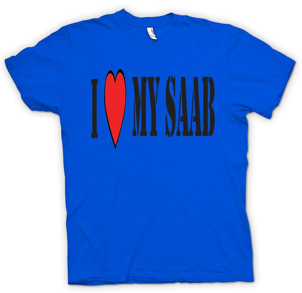 Mens t-shirt - io LoveMy Saab - Auto divertente