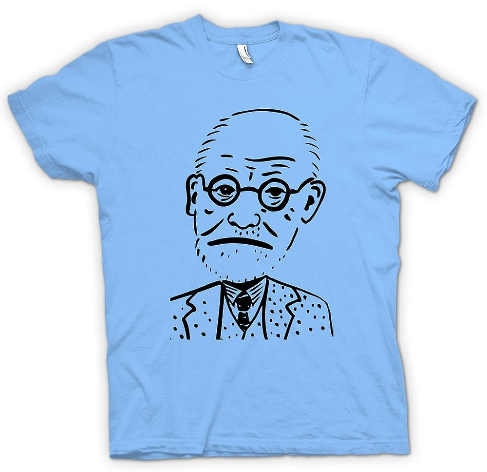 Heren T-shirt - Sigmund Freud - psychologie - karikatuur