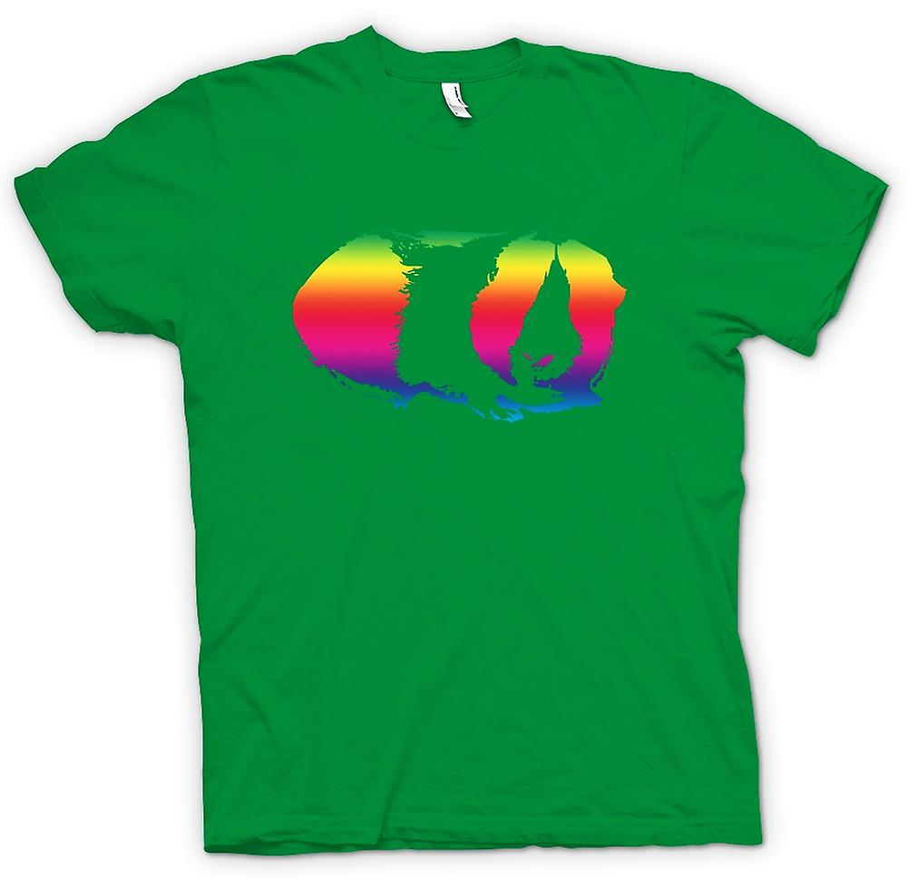 Heren T-shirt-cavia-Rainbow