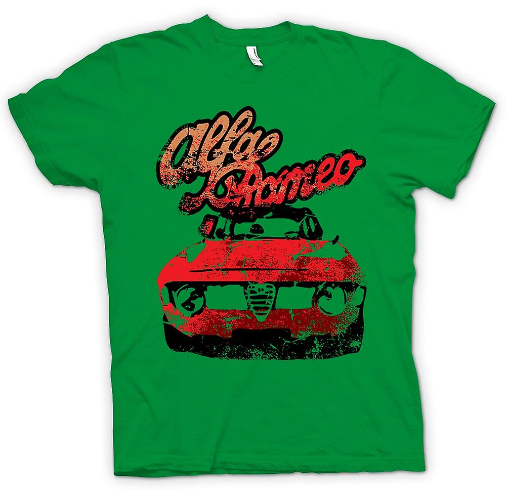 Mens T-shirt - Alfa Romeo Classic Car
