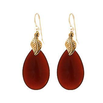 Gemshine damer øredobber med oransje karneol gemstone dråper. 925 sølv eller høy kvalitet gullbelagt - bærekraftig, kvalitet smykker laget i Tyskland