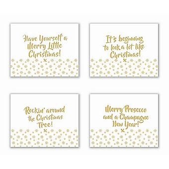 Gold Christmas Placemats (Set Of 4)