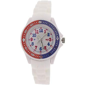 Citron Analogue Boys-Girls White Dial Rotating Bezel Silicone Strap Watch KID116
