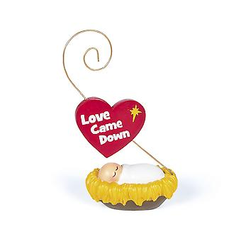 Rocking Baby Jesus 'Love Came Down' Ornament - Christmas Decoration