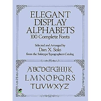 Display elegante alfabetos: 100 fontes completos