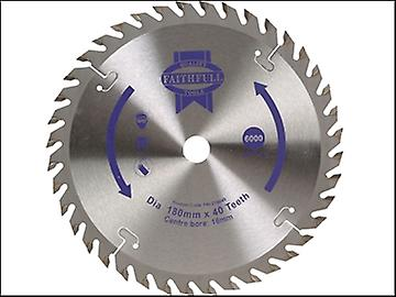 Faithfull Circular Saw Blade 180 x 16mm x 40T Fine Cross Cut