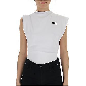 Gcds White Cotton Bodysuit