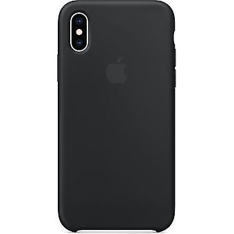 梱包アップル シリコン マイクロ繊維カバー XS - 黒の iPhone のためのケース