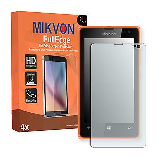 Microsoft Lumia 532 screen protector - Mikvon FullEdge (screen protector with full protection and custom fit for the curved display)