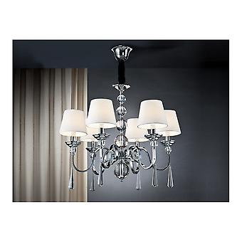 Schuller Traditional Chrome Hanging Ceiling Pendant 6 Light