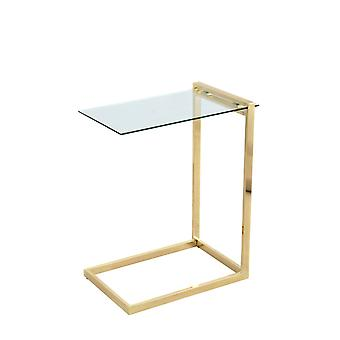 Coffee table gold glass top modern coffee table living room