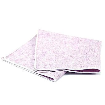 Light purple wash out tweed look wool pocket square