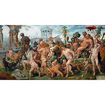 Triumf av Bacchus, Maerten van heemskerck, 80x42cm