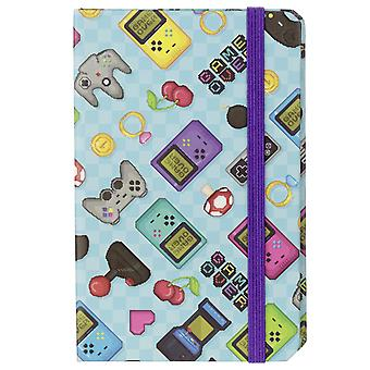Game over notebook light blue, printed, lined, DIN A5, 100 pages.
