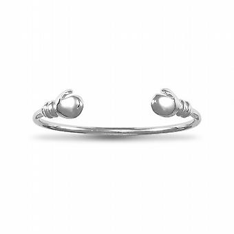 The Olivia Collection Sterling Silver Baby Boxing Glove Children's Bangle