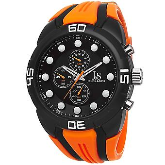Joshua & Sons Men's JS61 Analog Display Watch with Silicone Strap JS61OR