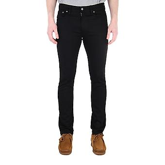 Nudie Jeans Co Lean Dean Dry Ever Black Denim Slim Fit Jeans