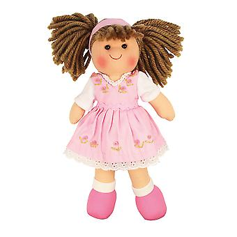 Bigjigs Toys Soft Plush Rose Doll (28cm) Ragdoll Cuddly Toy