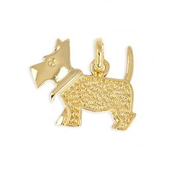 Hund guldpläterad hänge