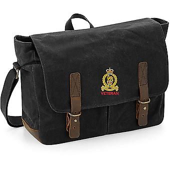 Staff & Personnel Support Branch SPS - Veteran - Licensed British Army Embroidered Waxed Canvas Messenger Bag