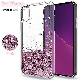 Iphone Xr-Liquid Glitter 3d Bling Shell Case