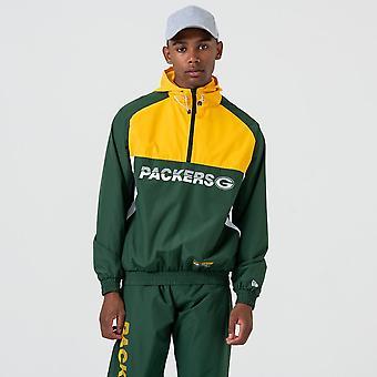 New Era Nfl Green Bay Packers Colour Block Windbreaker