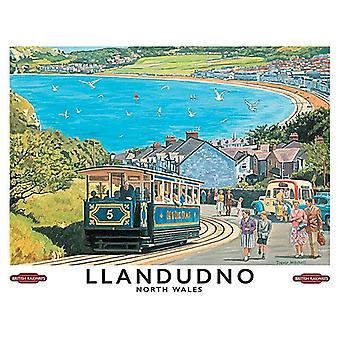 Llandudno, North Wales, Small Metal Sign 200mm x 150mm (og)