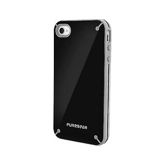 PureGear Slim Shell Case for Apple iPhone 4/4S - Black Tea