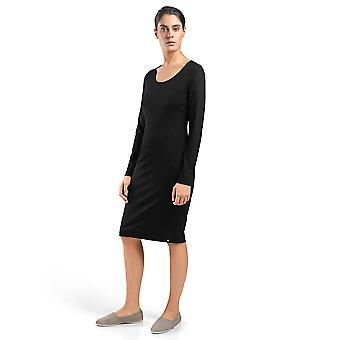 Hanro ropa de mujer Depuntos vestido negro 78377