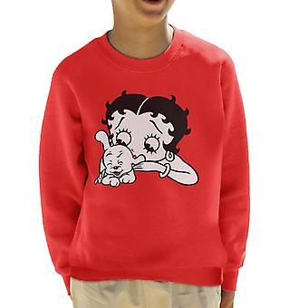 Betty Boop Kitzelt Pudgy Kid's Sweatshirt